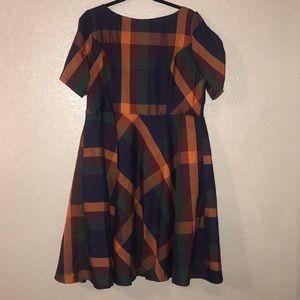 ModCloth Professional Delights Plaid Dress